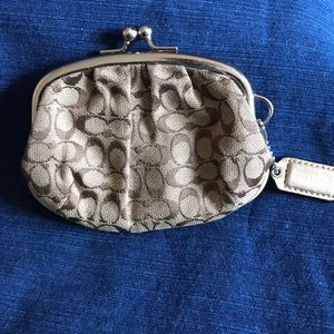 Brown/Tan Coach Coin Purse